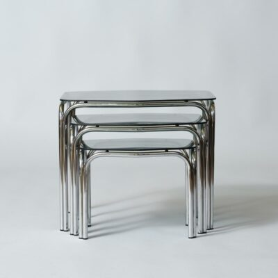 Smoked-glass-vintage-nesting-tables