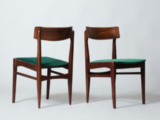 Two Dining Chairs in Palissander Wood