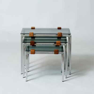 smoked-glass-wengé-nesting-tables