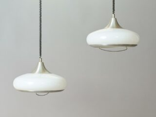 Set of space-age hanging lamps