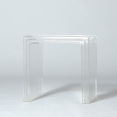 Lucite-nesting-tables-1980's