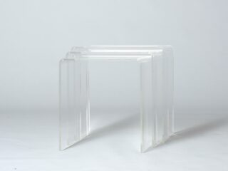 Nesting tables in Lucite Acrylic