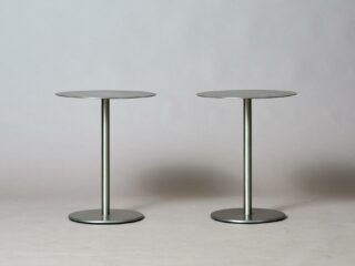 Two Metal Side Tables - 1980's