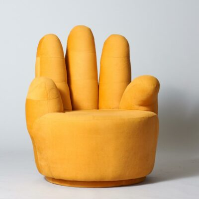yellow-vintage-hand-lounge-chair
