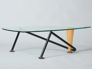 Vintage table in Memphis style