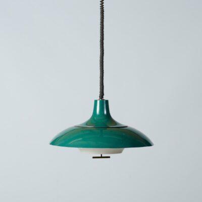 Vintage-hanging-lamp-green-seventies