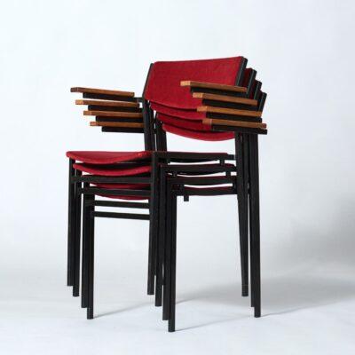van-der-sluis-chairs-four-red-metal
