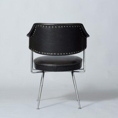 vintage-chair,dutch,metal,skai