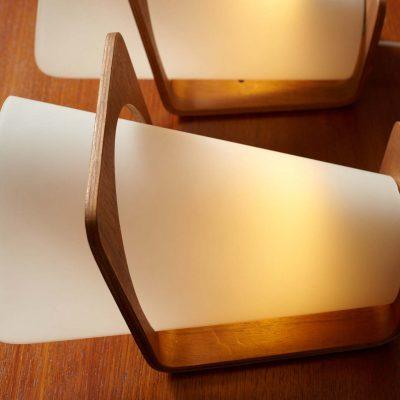 wall-lamps-set-philips-teak-white-glass