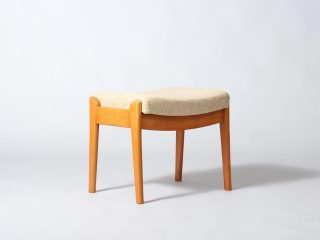 Footstool in Wool & Wood