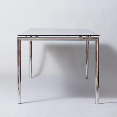black-glass-chromed-dining-table