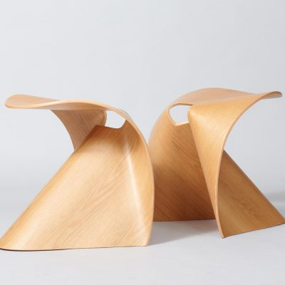 midcentury-design-stools-plywood