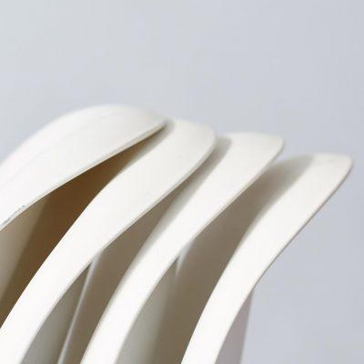 white-verner-panton-dining-chairs