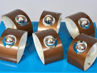 Set of 6 Wall Lamps - 1970's