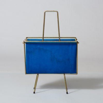 blue-velvet-magazine-rack