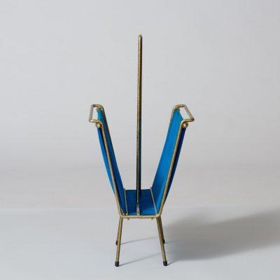 midcentury-blue-magazine-holder
