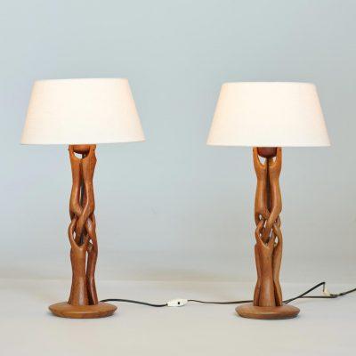 set-of-danish-table-lamps-organic-wood