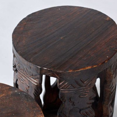 set-of-dark-wood-side-tables