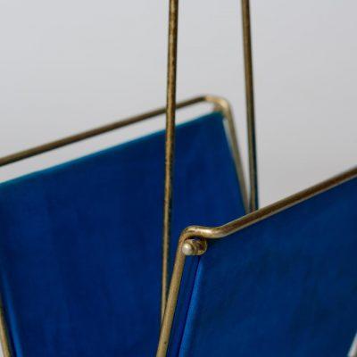 velvet-blue-copper-magazine-holder