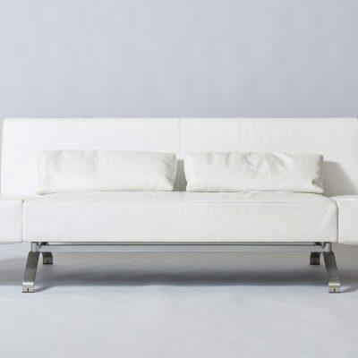 white-leather-design-ligne-roset-sofa